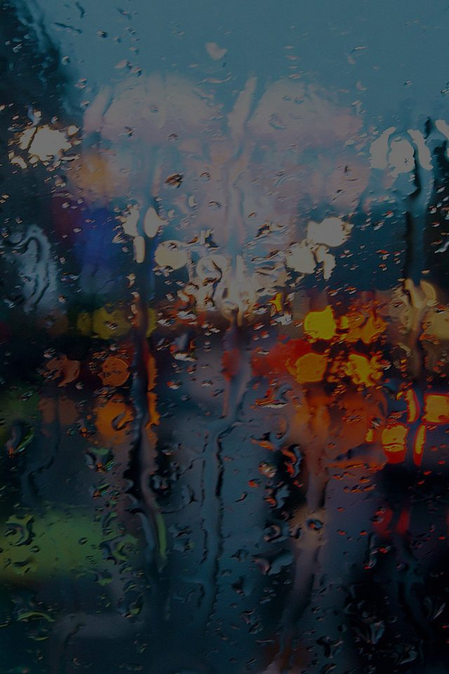 Somedays Rain Window Wet Nature Dark Android wallpaper