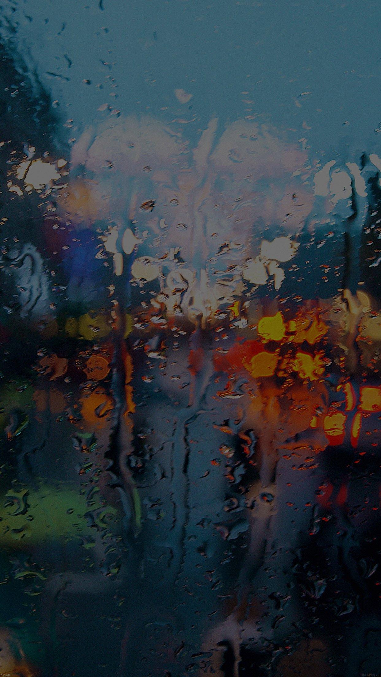 Somedays Rain Window Wet Nature Dark Android Wallpaper
