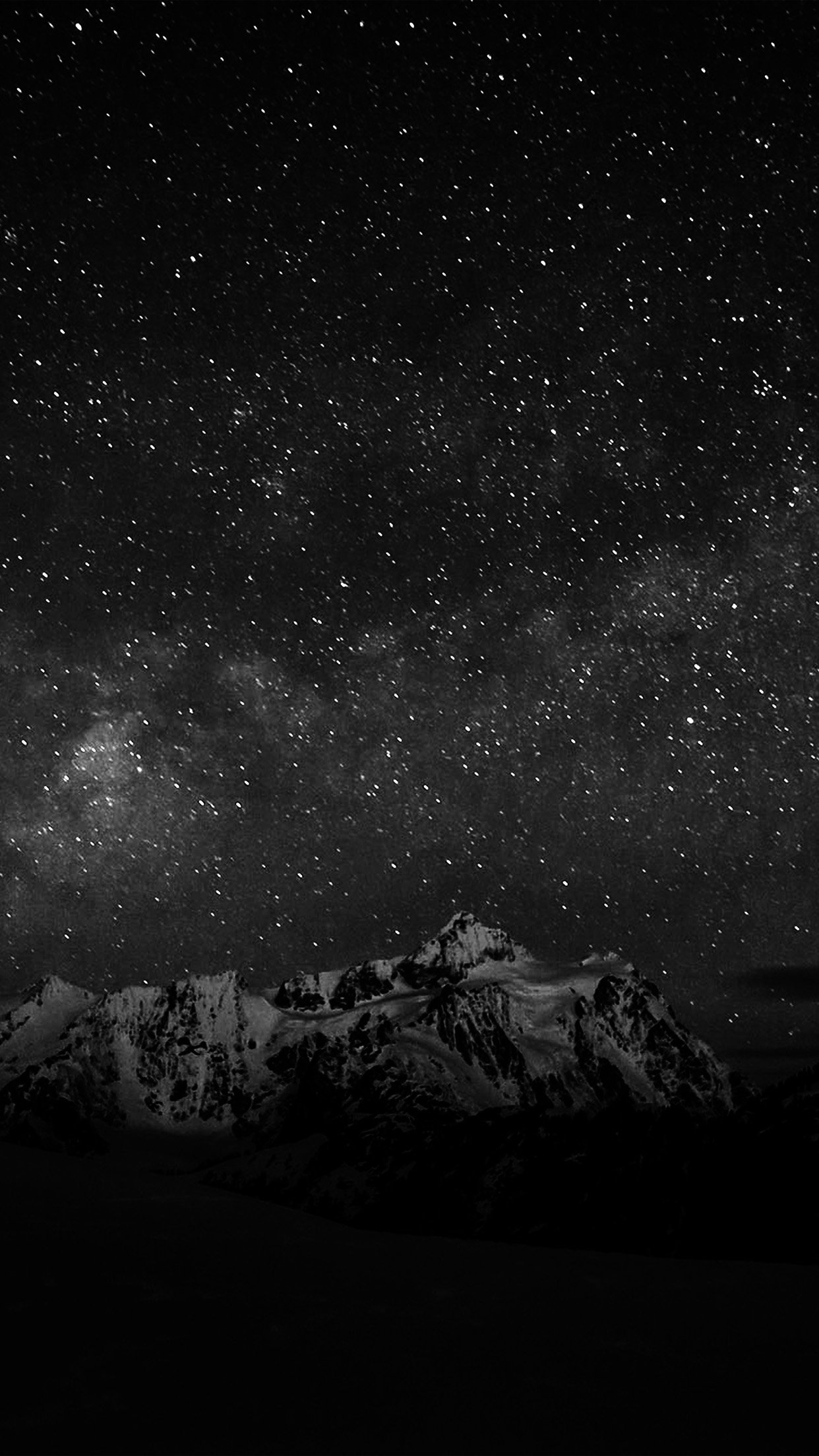 Starry night sky mountain nature bw dark android wallpaper starry night sky mountain nature bw dark android wallpaper android hd wallpapers voltagebd
