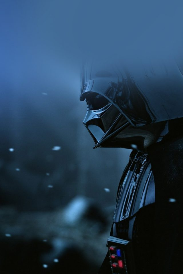 Starwars Darth Vader Art Film Blue Android wallpaper
