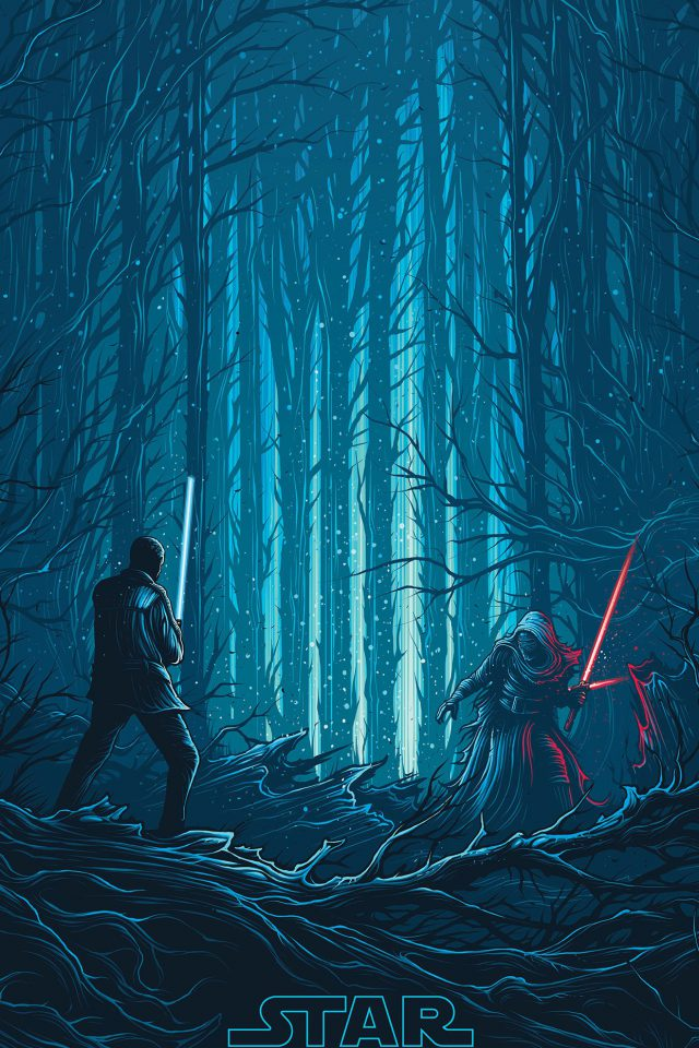 Starwars Illustration Blue Art Film Android wallpaper