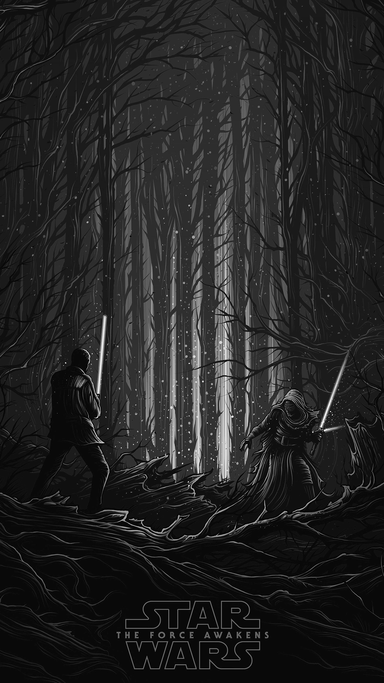 starwars illustration bw dark art film android wallpaper android hd wallpapers