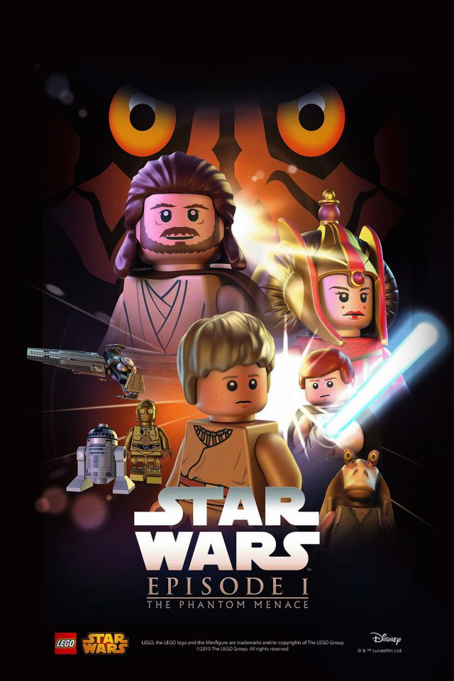Starwars Lego Episode 1 Phantom Manace Film Art Android wallpaper