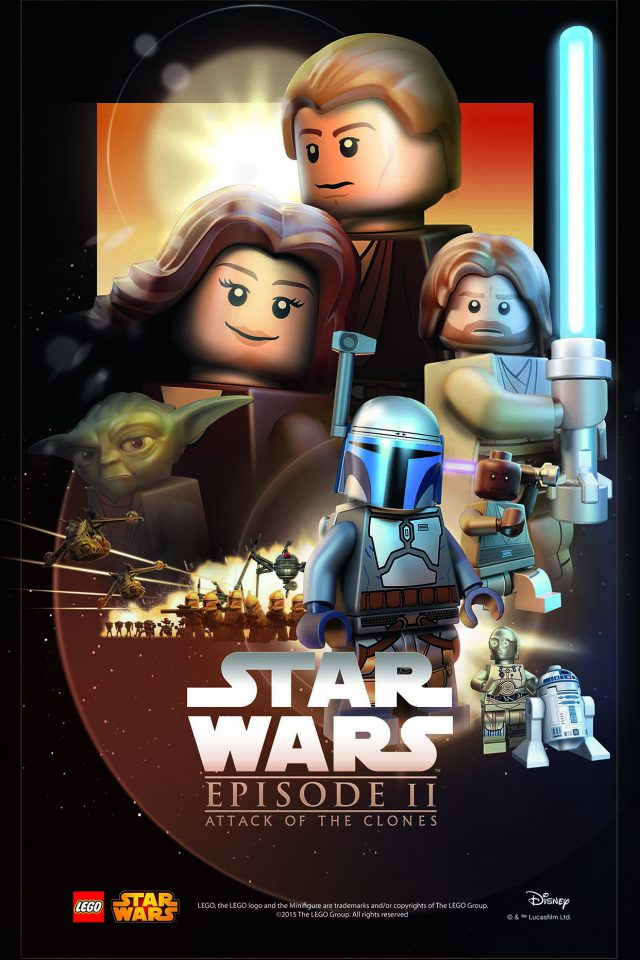 Starwars Lego Episode 2 Attack Of Clones Art Film Android wallpaper