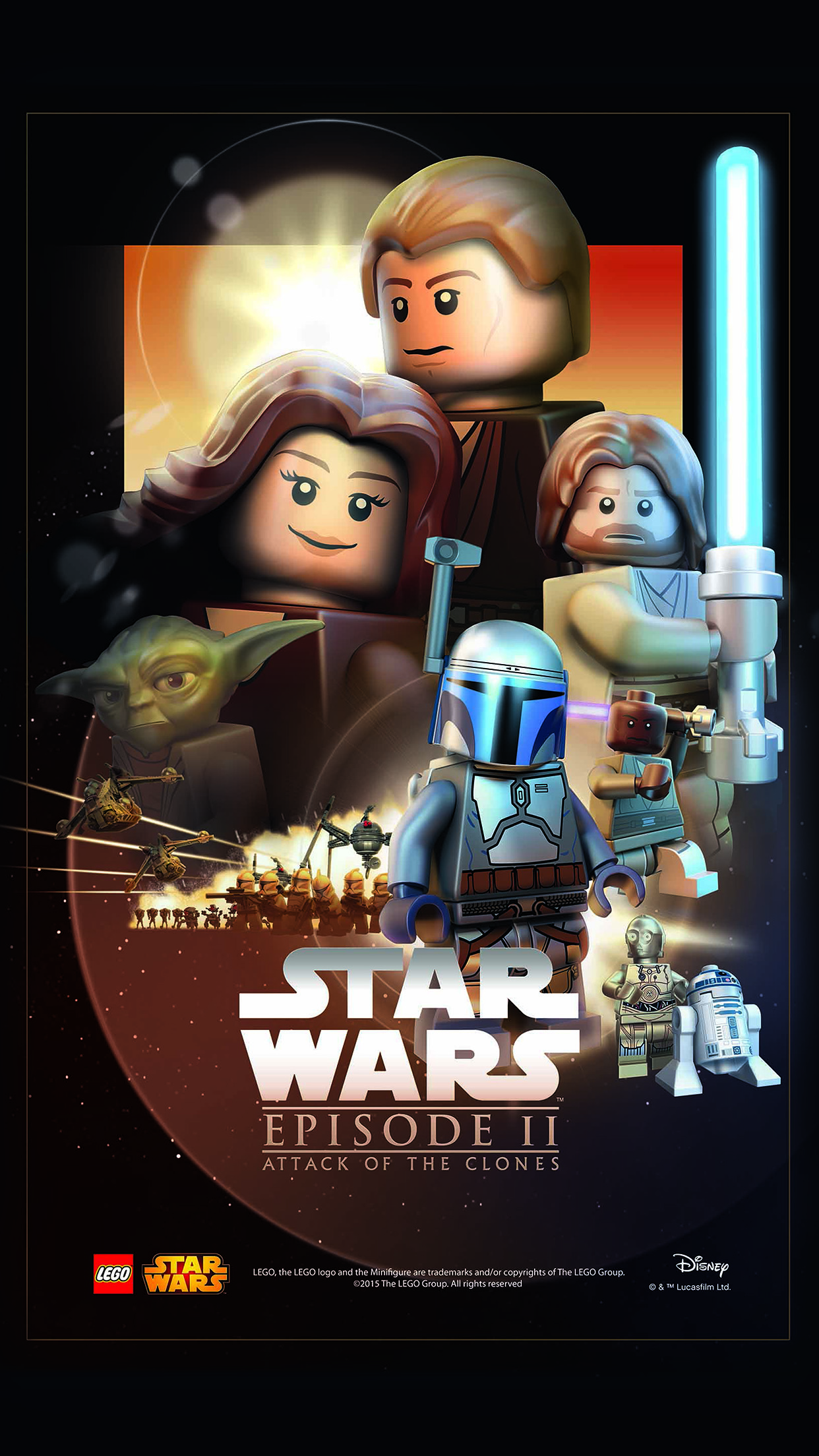 Starwars Lego Episode 2 Attack Of Clones Art Film Android Wallpaper Android Hd Wallpapers