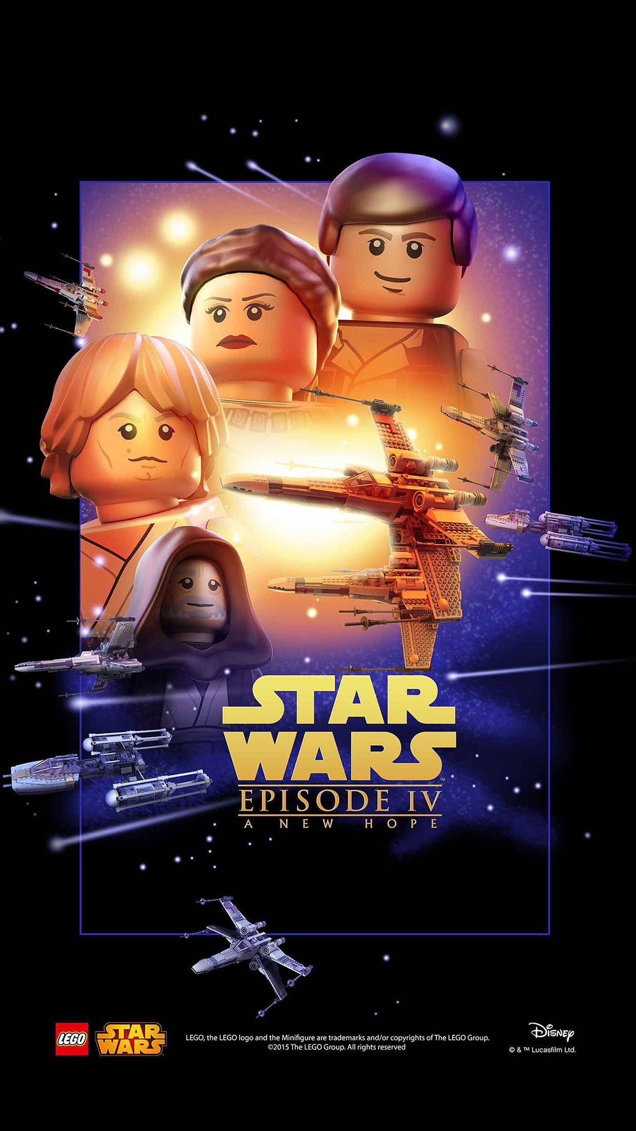 Starwars Lego Episode 4 New Hope Art Film Android wallpaper