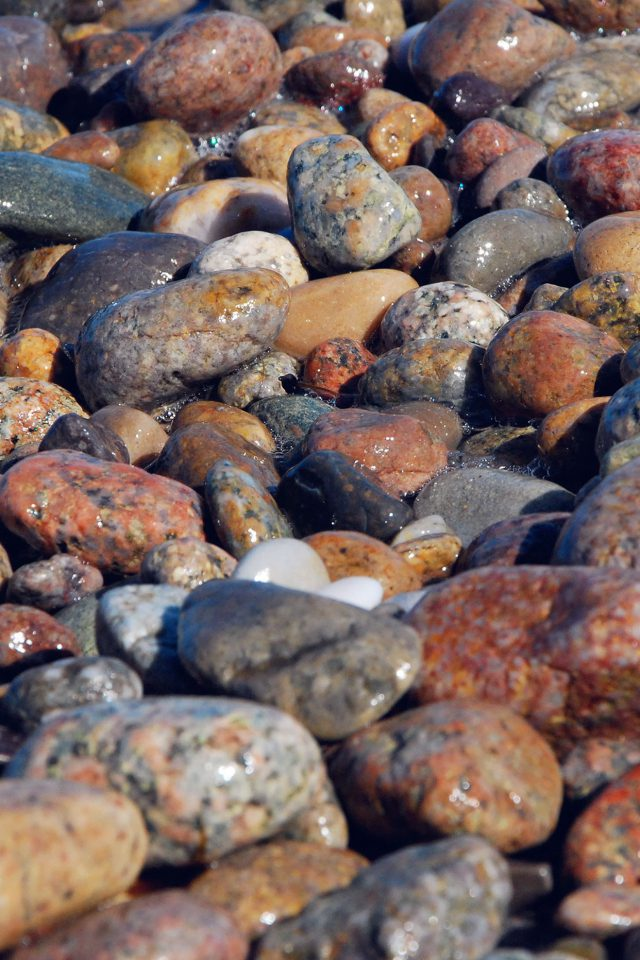 Stone Rocks Beach Nature Pattern Android wallpaper