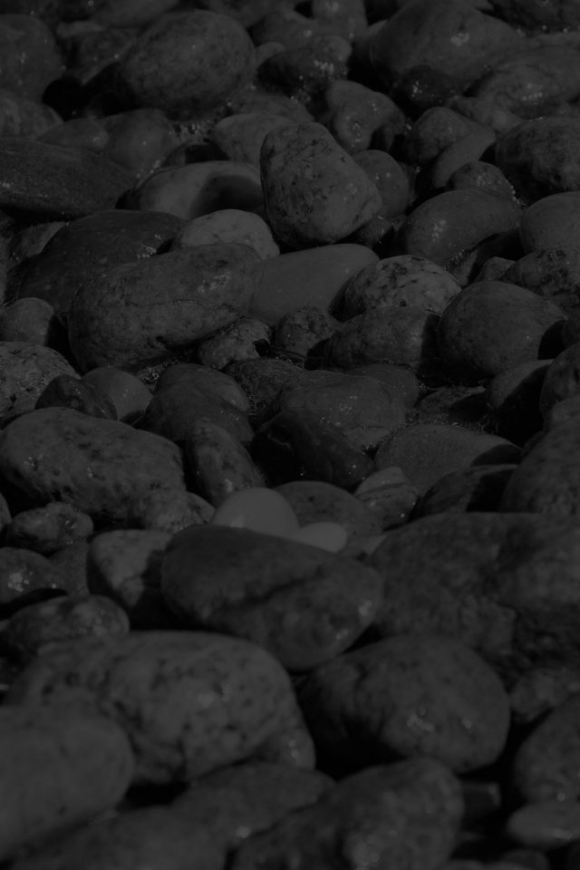 Stone Rocks Beach Nature Pattern Dark Android wallpaper