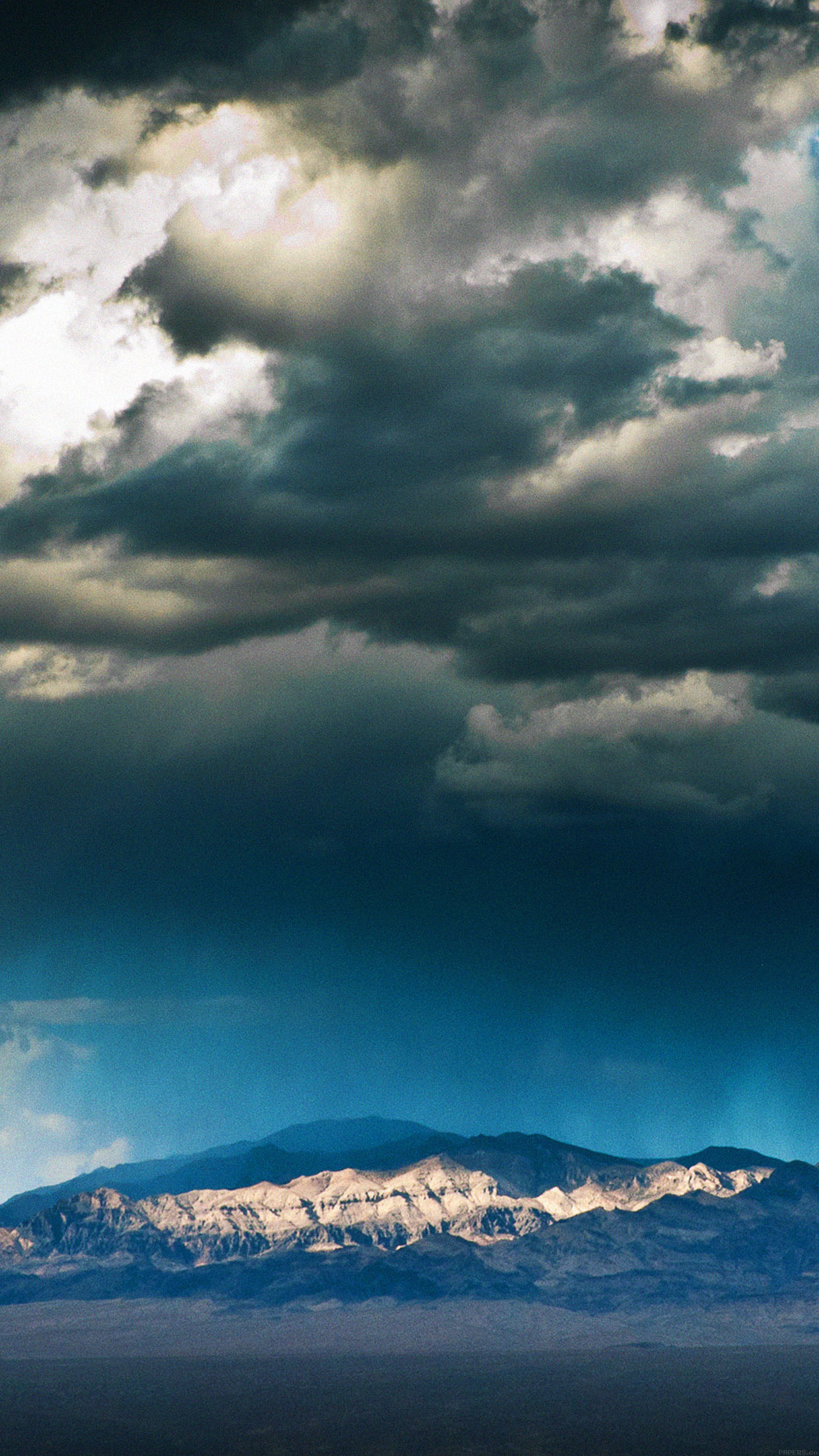 Storm Mountain Sky Nature Android wallpaper