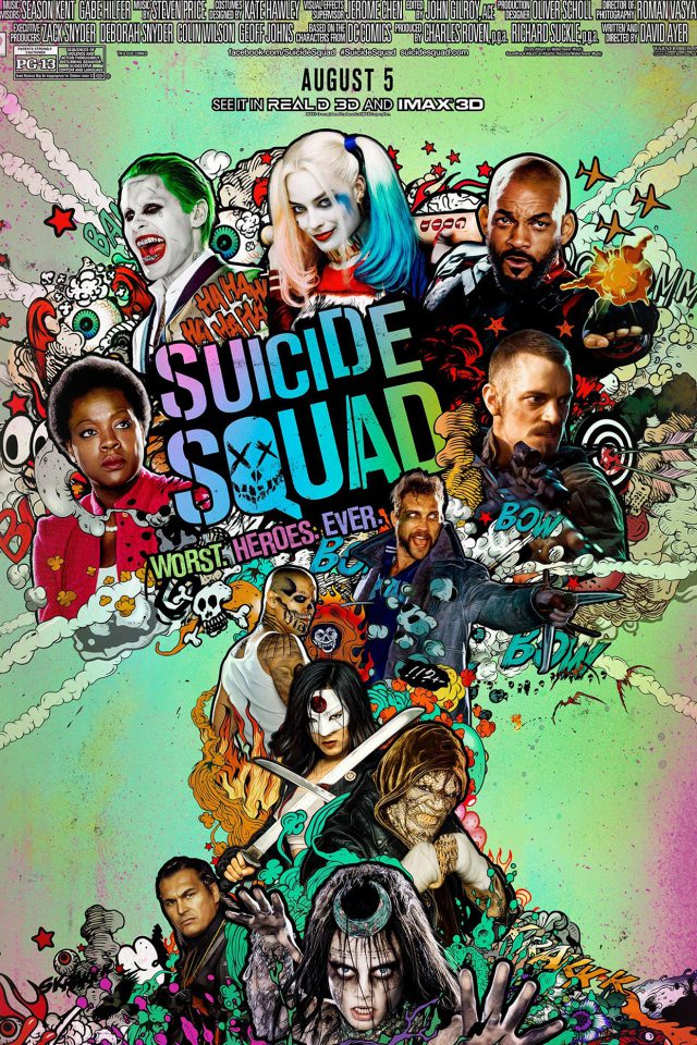 Suicide Squad Film Poster Art Illustration Android wallpaper