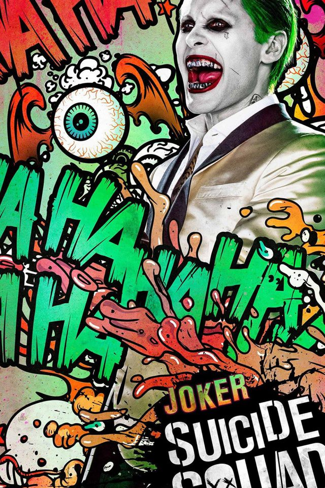 Suicide Squad Film Poster Art Illustration Joker Android wallpaper