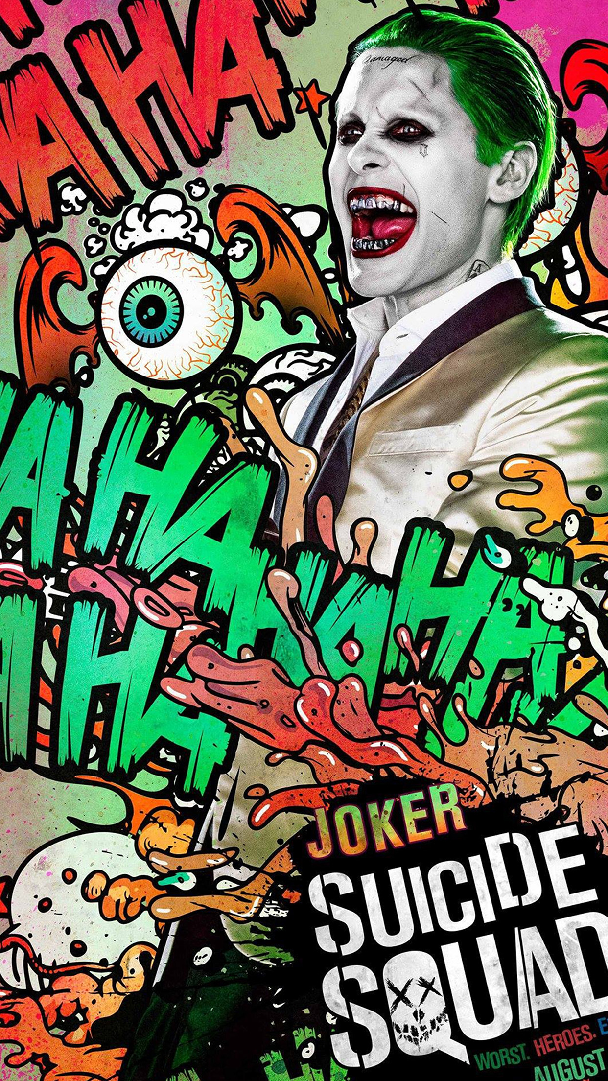 suicide squad film poster art illustration joker android wallpaper android hd wallpapers