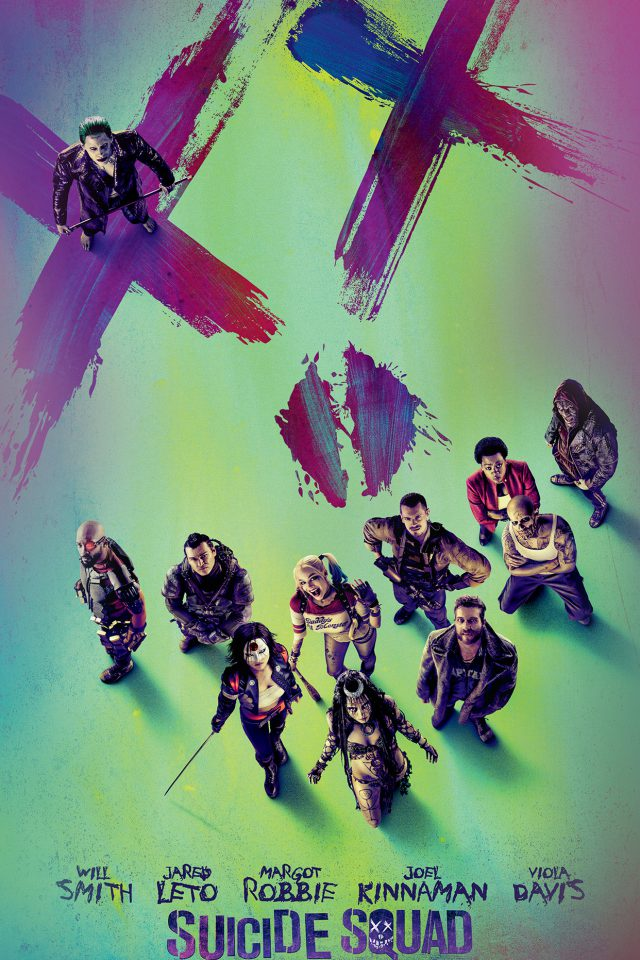 Suicide Squad Poster Film Colorful Art Illustration Android wallpaper