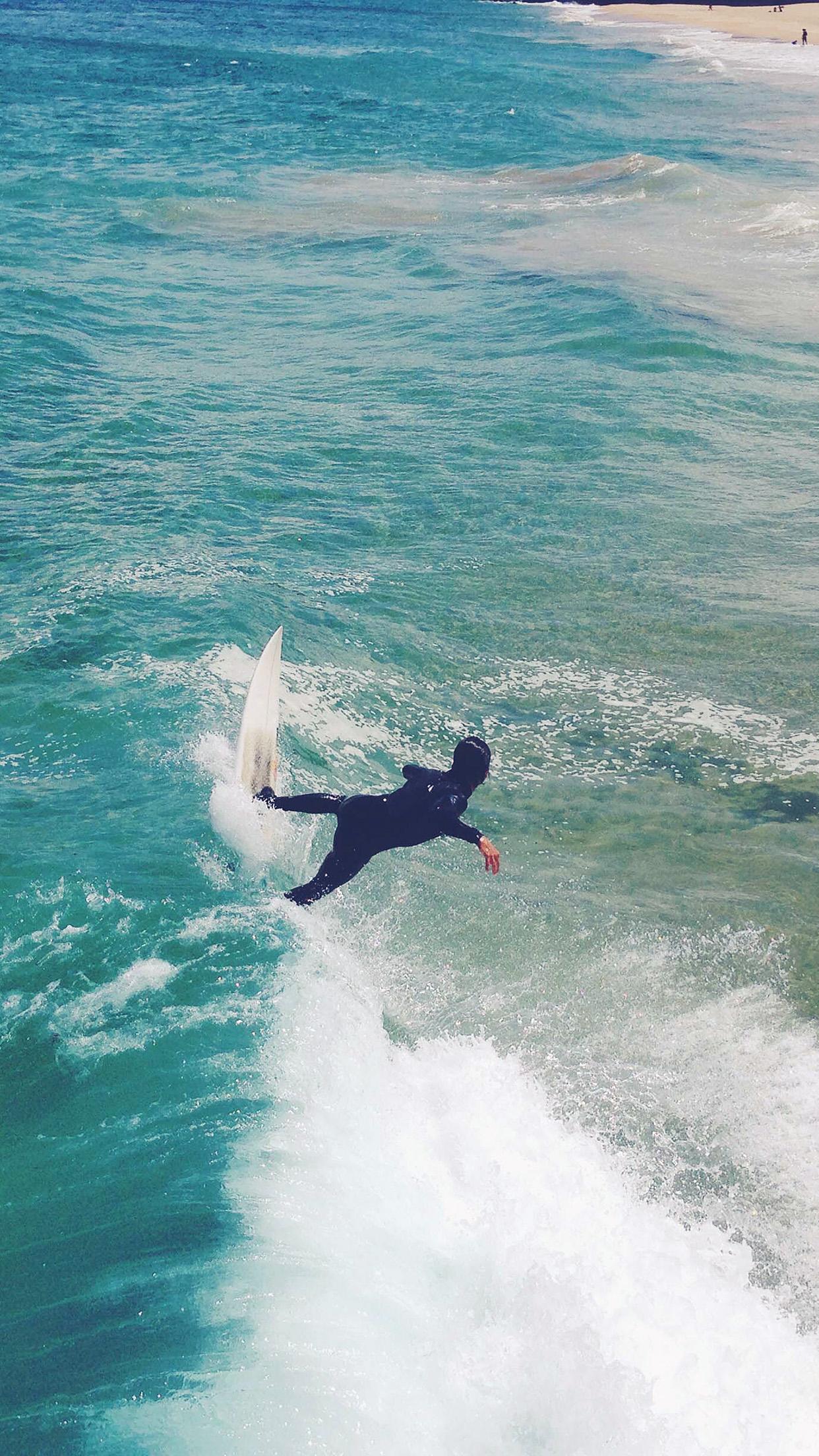 Summer Ocean Beach Surf Girl Nature Blue Android Wallpaper