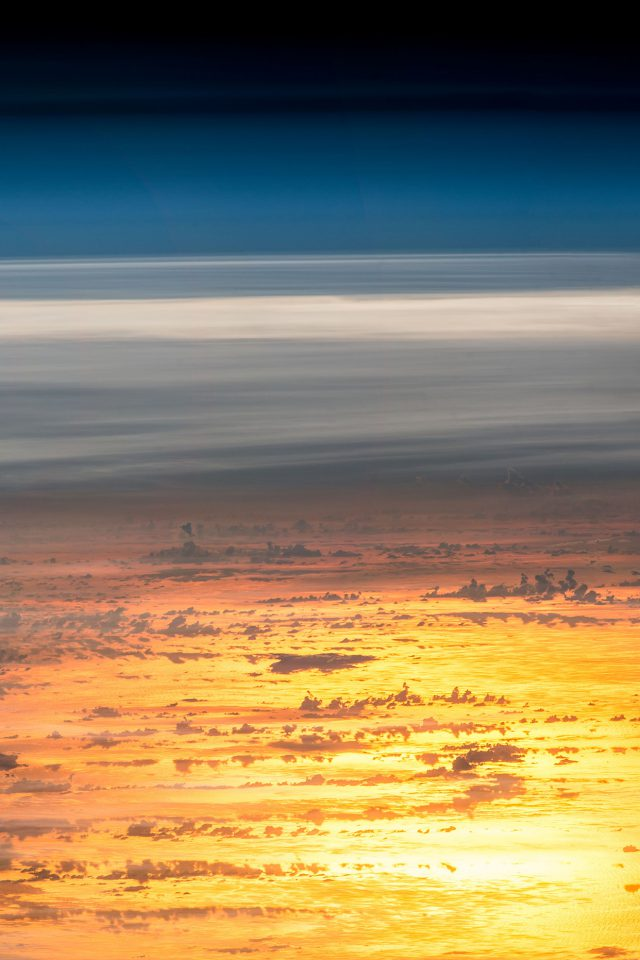 Sunset Sky From Space Art Earthview Illustration Android wallpaper