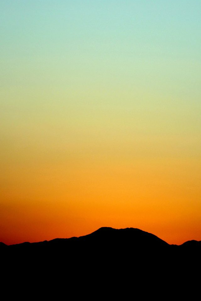 Sunset Sky Minimal Nature Red Android wallpaper