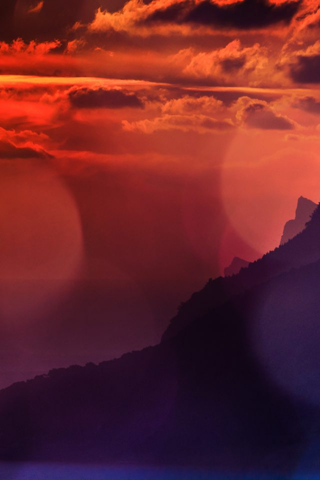 Sunshine Sea Flare Bokeh Mountain Palma Sky Afternoon Nature Android wallpaper