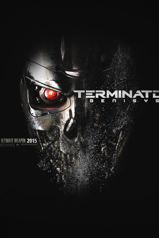 Terminator Genesis Poster Film Art Illust Dark Android wallpaper