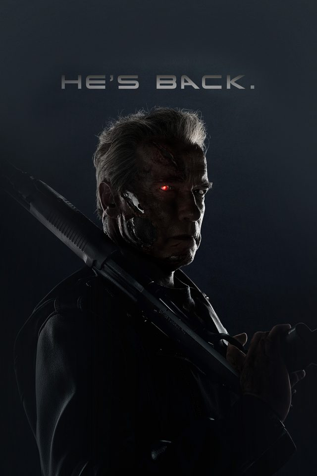 Terminator He Is Back Film Arnold Hero Android wallpaper