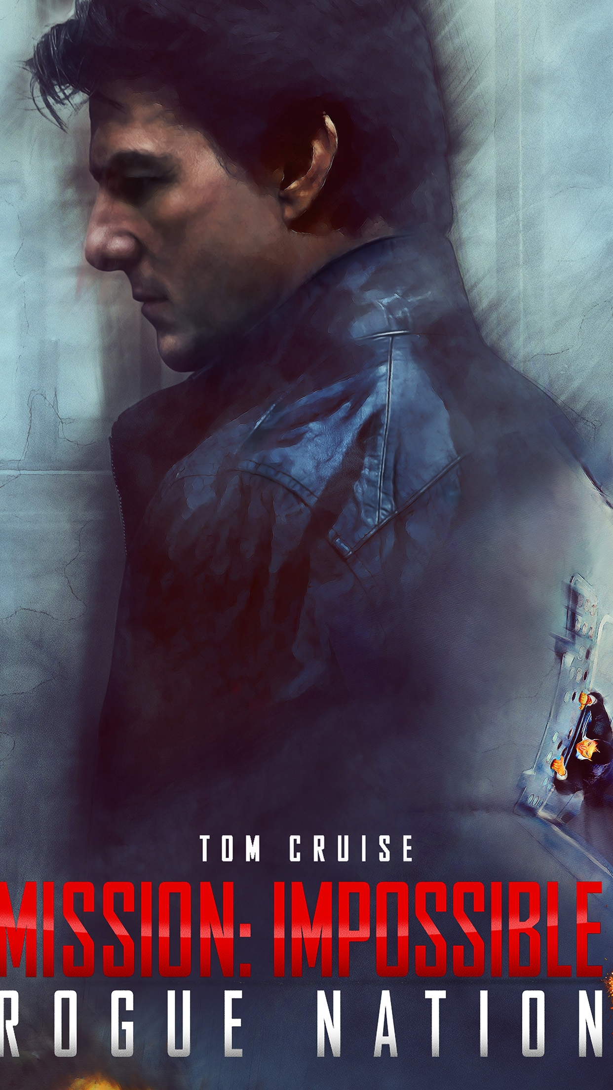 Tom Cruise Mission Impossible Rogue Film Poster Android wallpaper