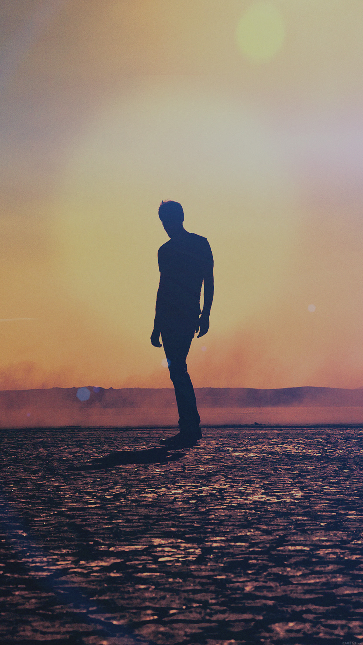Tycho Art Sun Man Flare Music Iso50 Android wallpaper