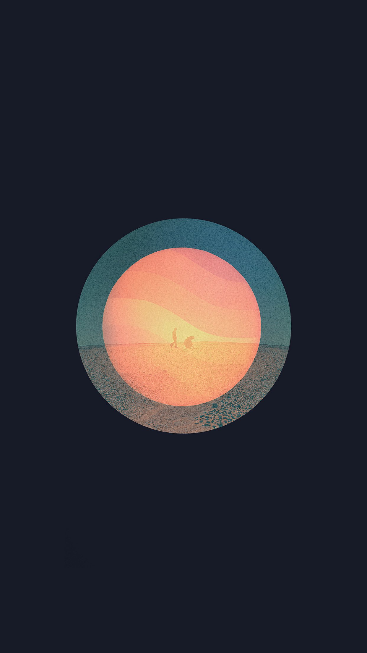 Tycho Poster Art Music Illust Simple Dark Android wallpaper