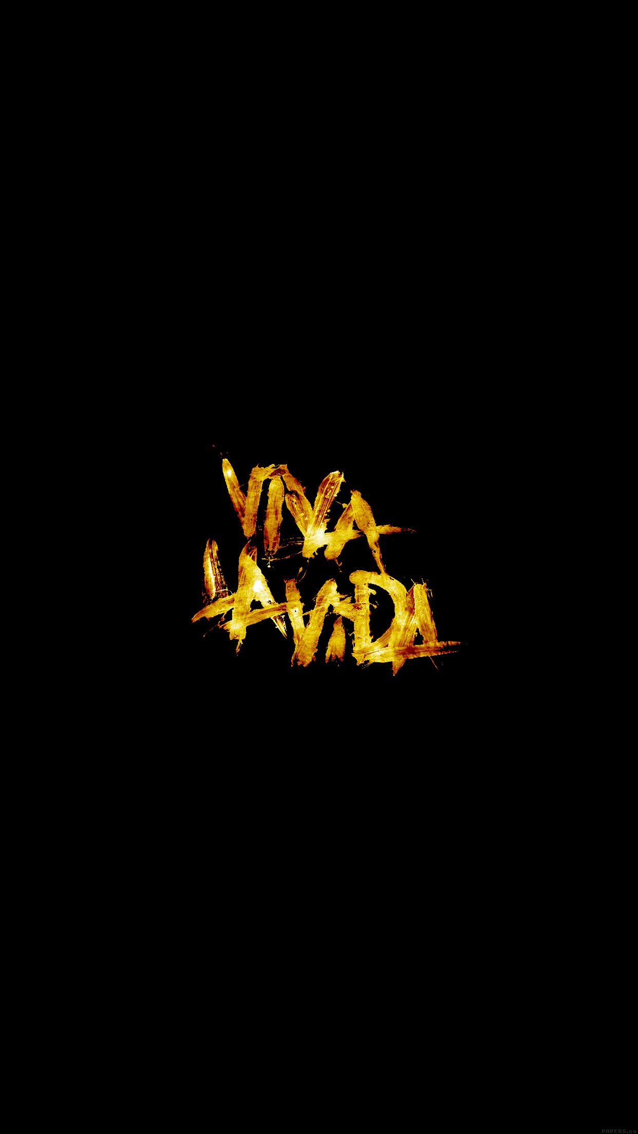 Viva La Vida Logo Music Art Android wallpaper