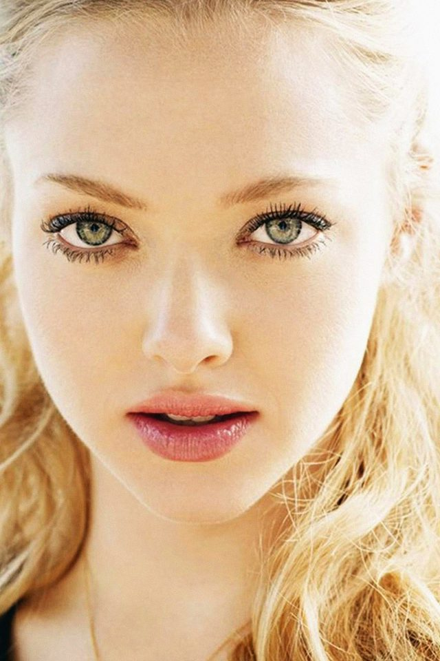Wallpaper Amanda Seyfried Lights Face Film Android wallpaper