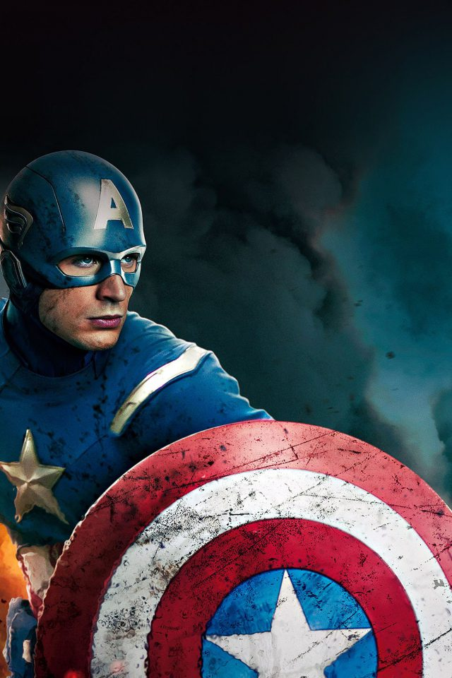 Wallpaper Captain America Avengers Illust Film Android wallpaper