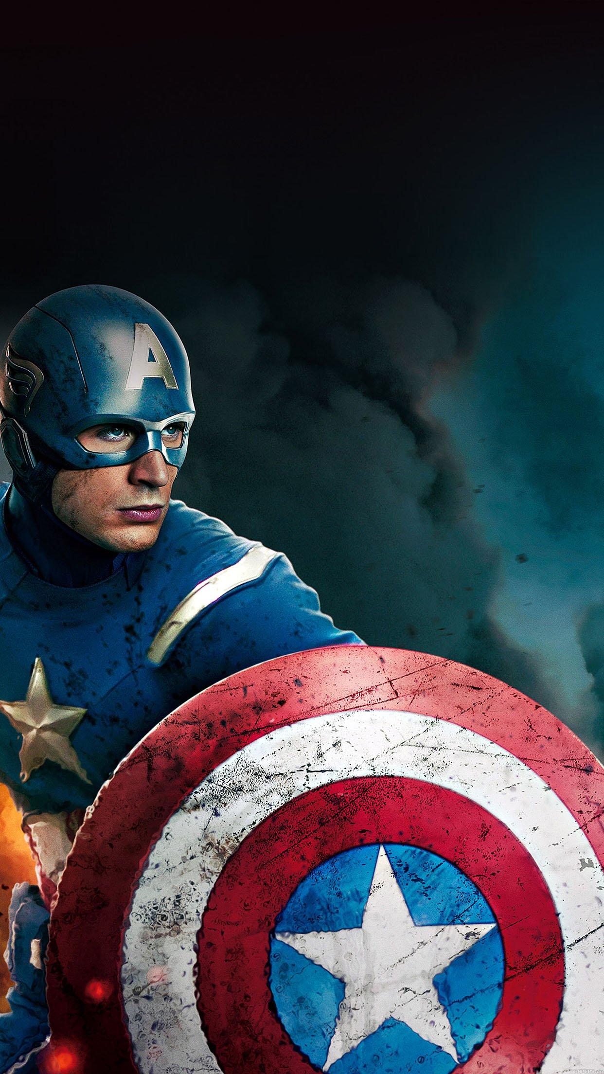 Wallpaper Captain America Avengers Illust Film Android Wallpaper
