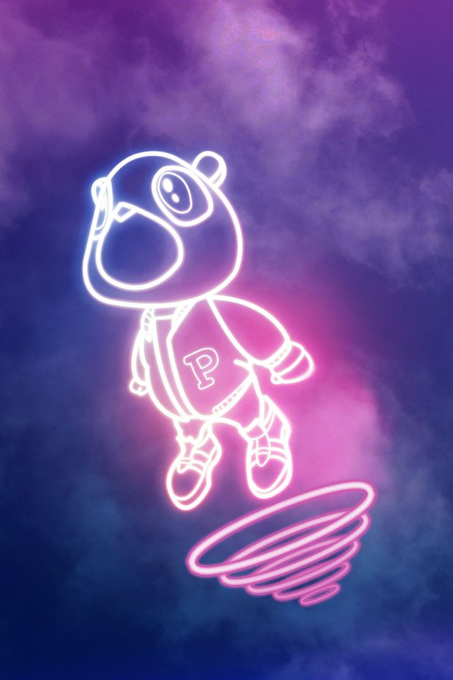 Wallpaper Drop Out Bear Of Kanye Illust Music Android wallpaper