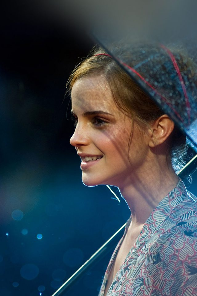 Wallpaper Emma Watson In Rain Girl Film Face Android wallpaper
