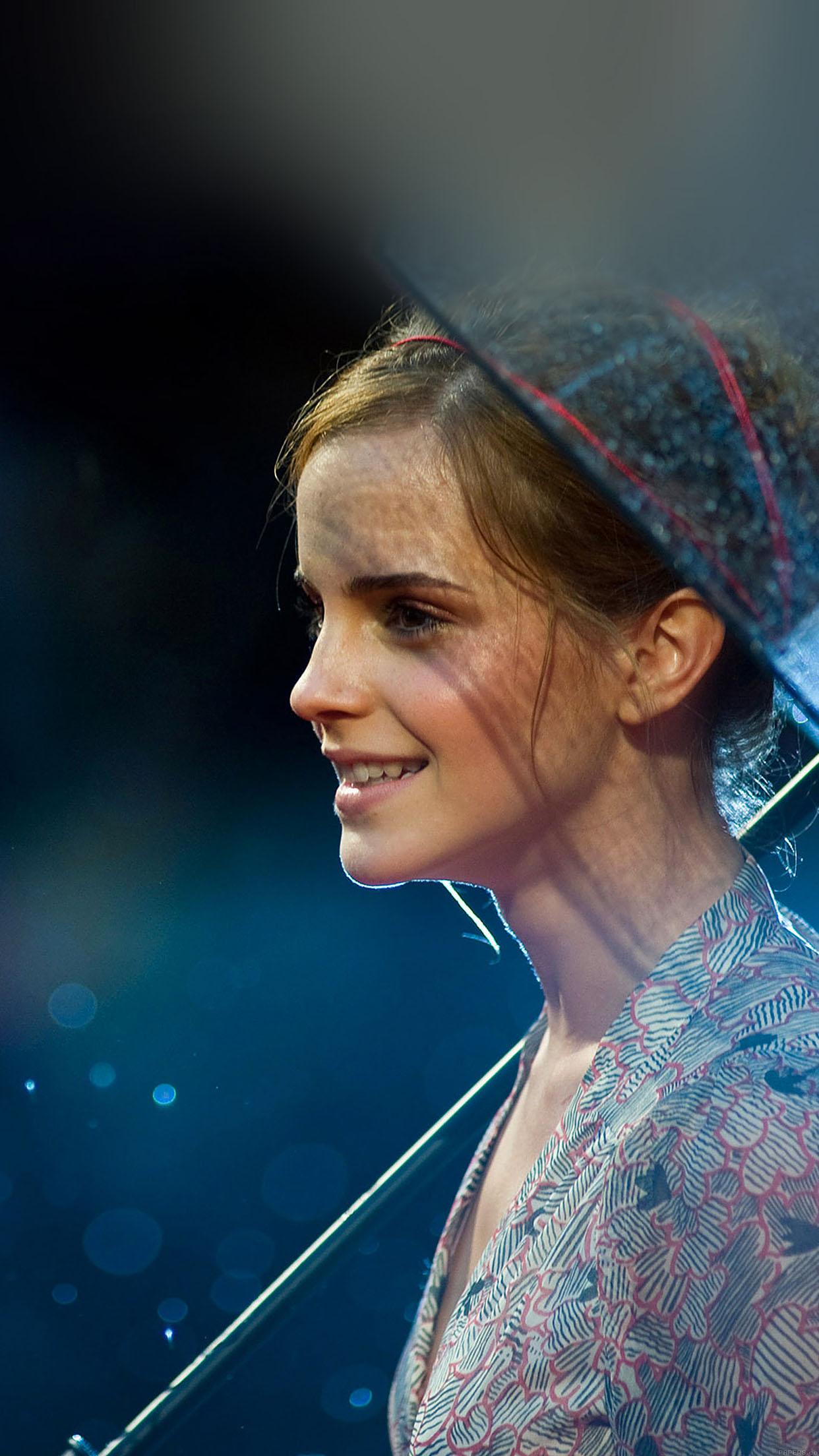 Wallpaper Emma Watson In Rain Girl Film Face Android ...