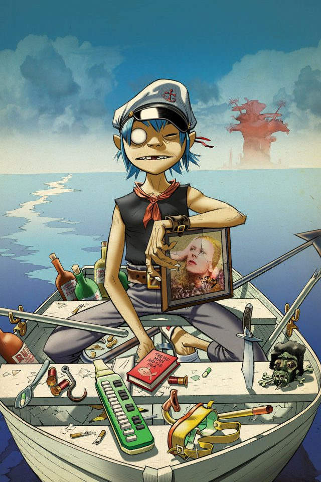 Wallpaper Gorillaz Boat Illust Music Android wallpaper