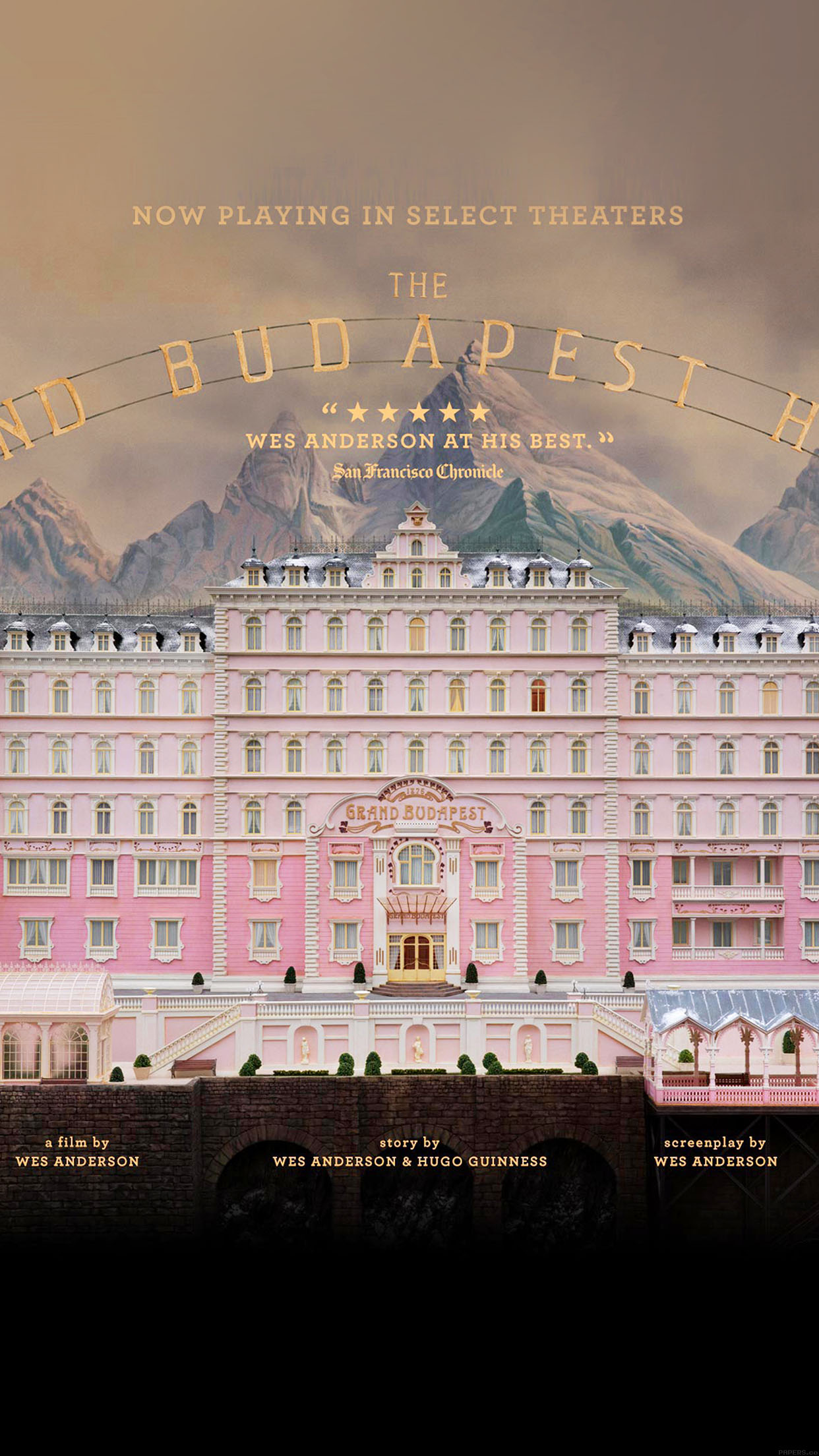 Wallpaper Grand Budapest Hotel Film Poster Android wallpaper