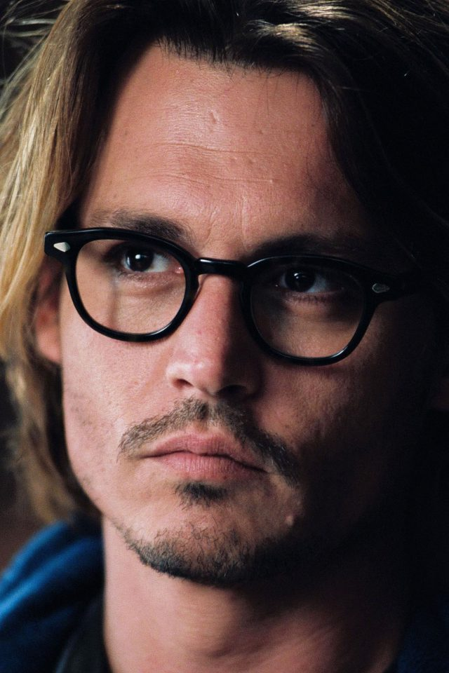 Wallpaper Johnny Depp Glass Film Actor Face Android wallpaper