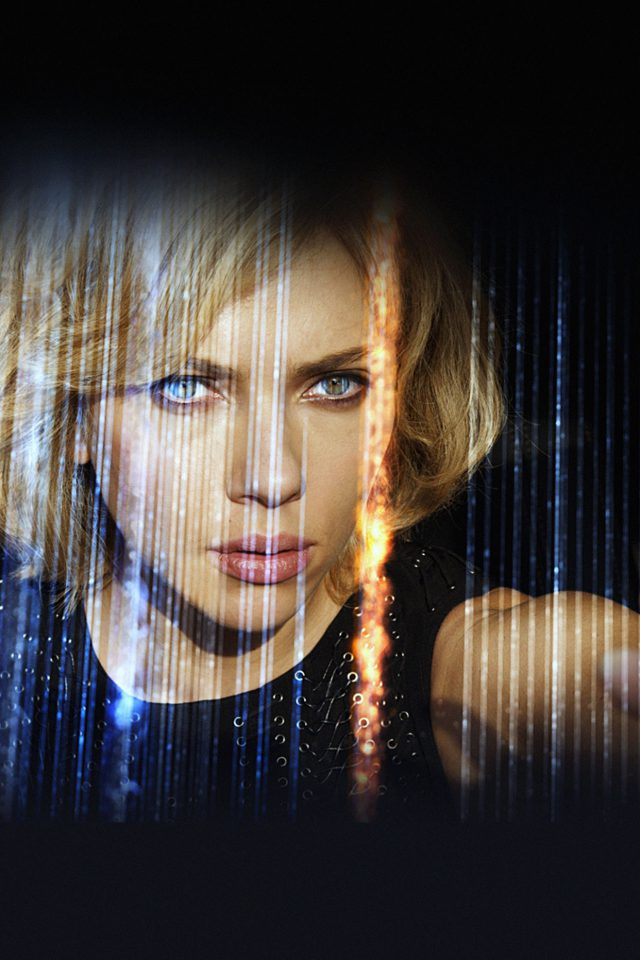 Wallpaper Lucy Film Scarlett Johansson Sexy Face Android wallpaper