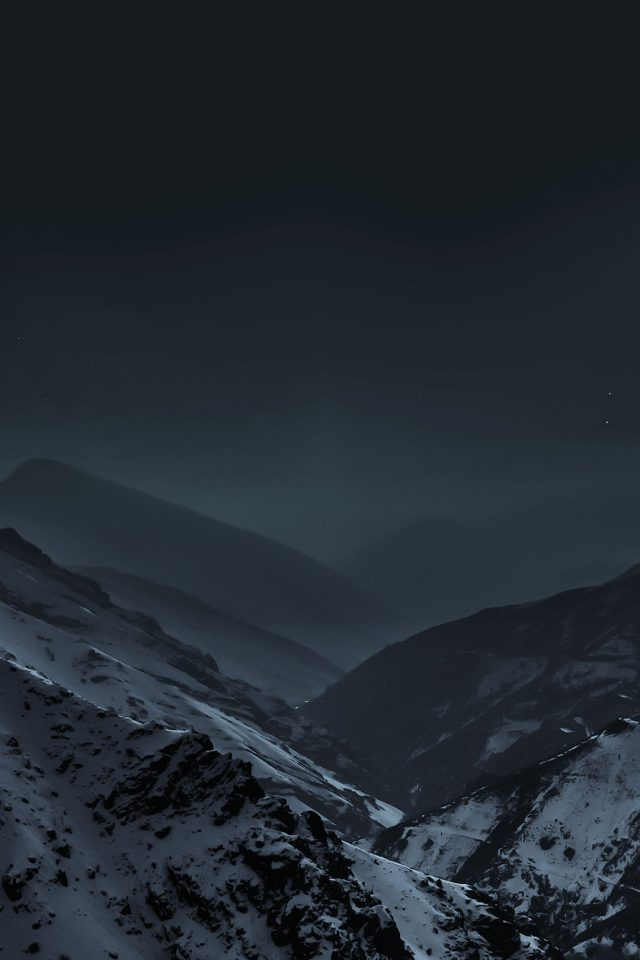 Wallpaper Nature Earth Dark Asleep Mountain Night Android wallpaper