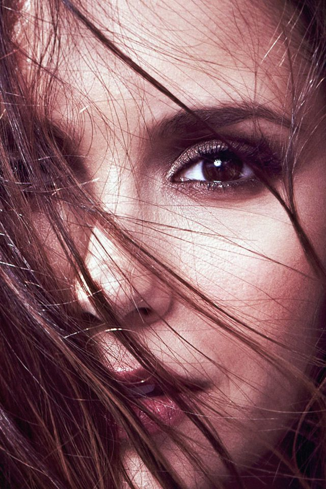 Wallpaper Nina Dobrev Face Film Star Android wallpaper