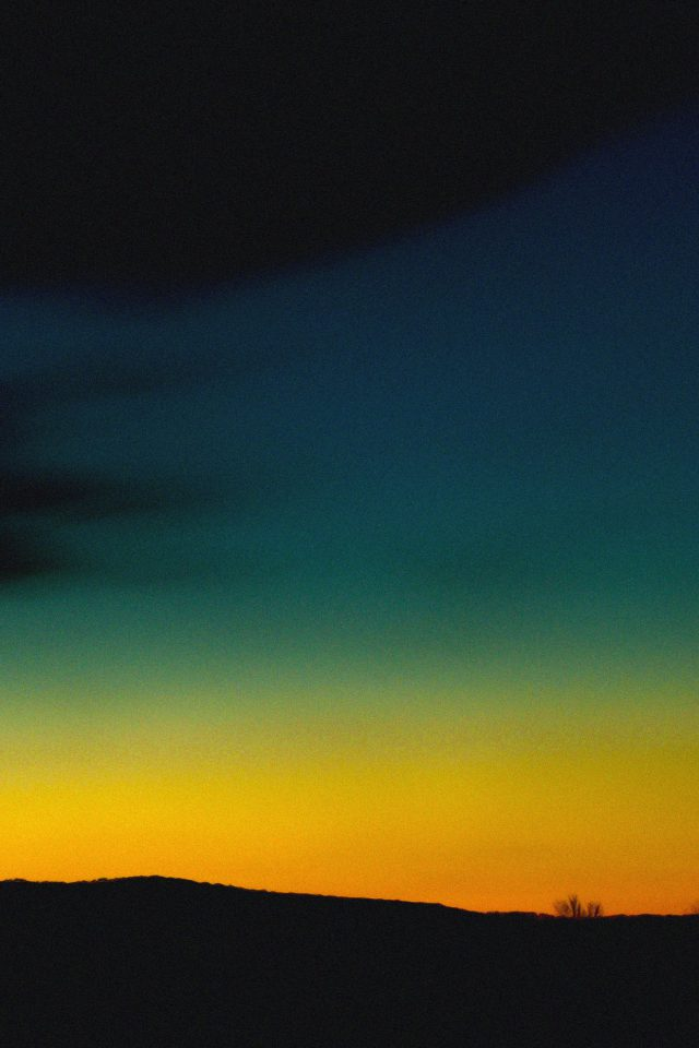 Wallpaper Orange Green Sky Sunset Nature Android wallpaper