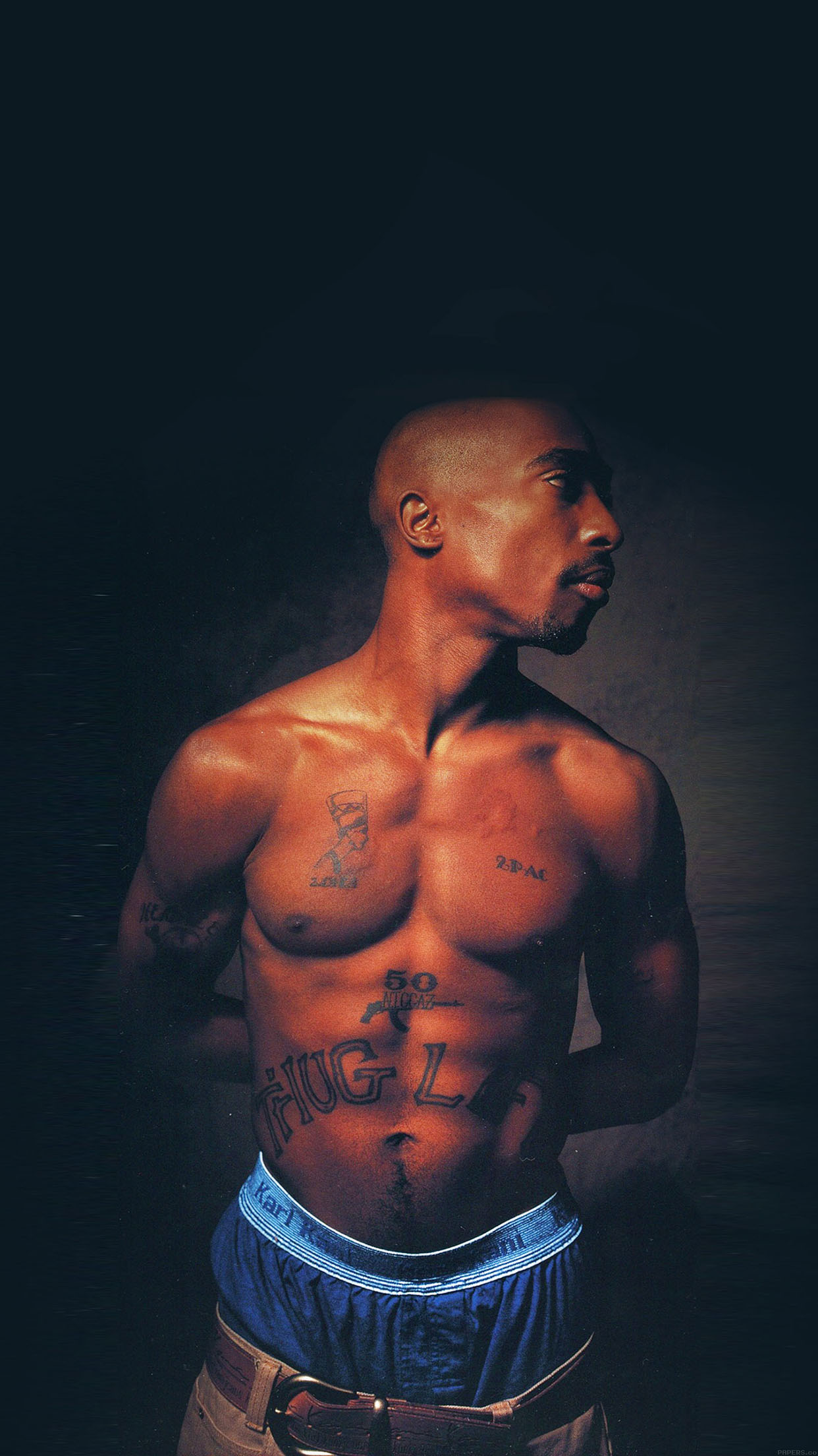 Wallpaper Tupac Music Face Android wallpaper