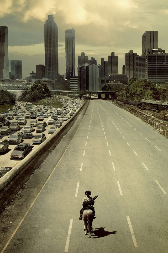 Wallpaper Walking Dead City Film Android wallpaper