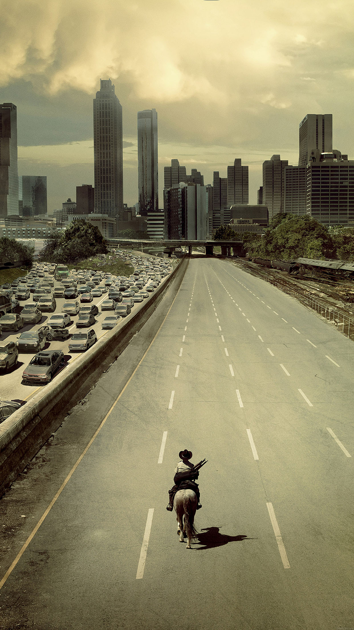 wallpaper walking dead city film android wallpaper - android hd