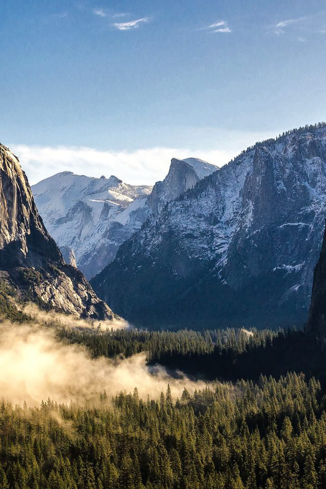 Wallpaper Yosemite Mountain Nature Android wallpaper