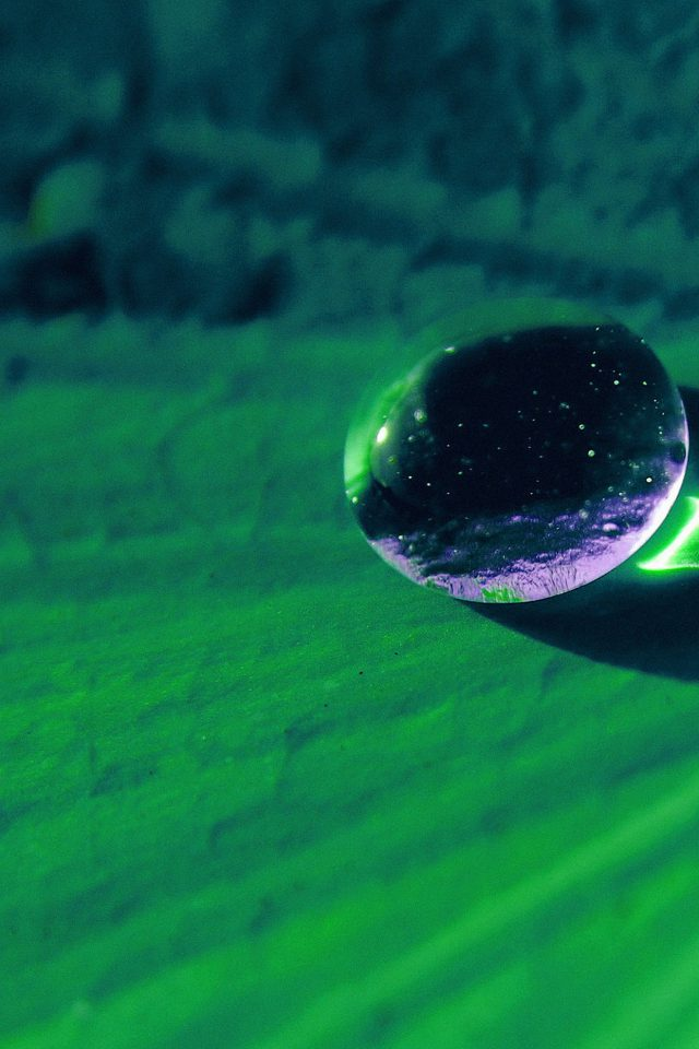 Water Drop On Green Flower Nature Android wallpaper