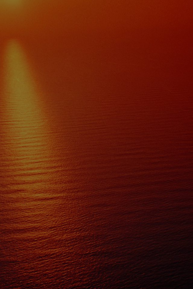 Water Ocean Red Sunset Nature Dark Texture Pattern Android wallpaper