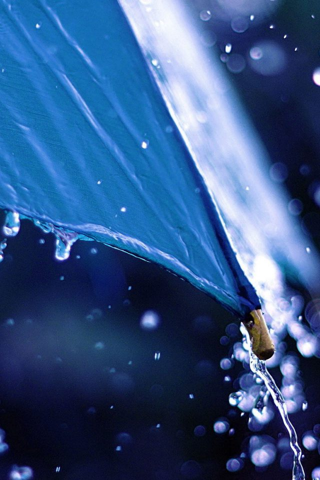 Water Umbrella Nature Android wallpaper