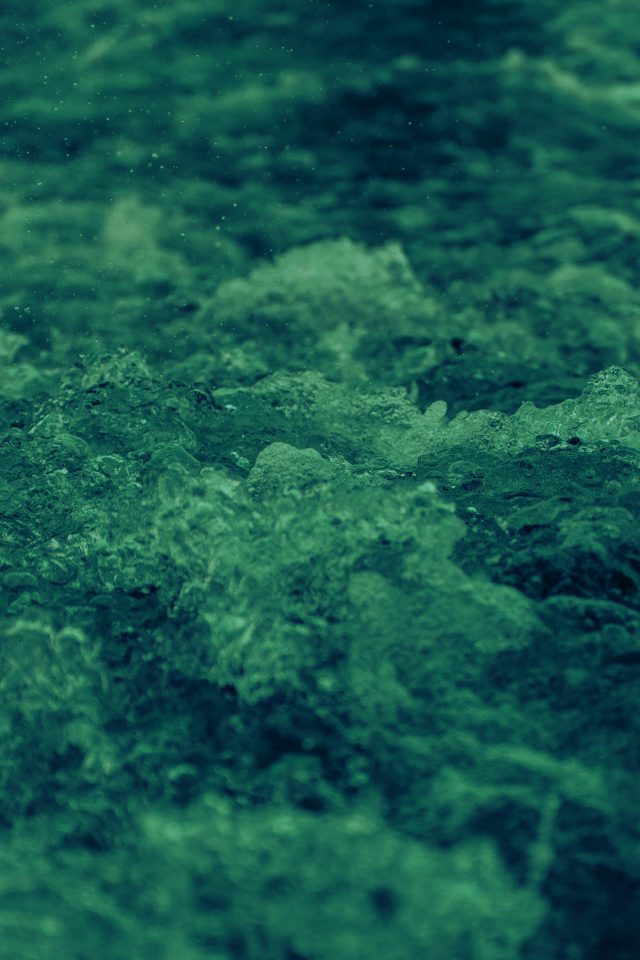 Wave Sea Green Ocean Nature Angry Android wallpaper