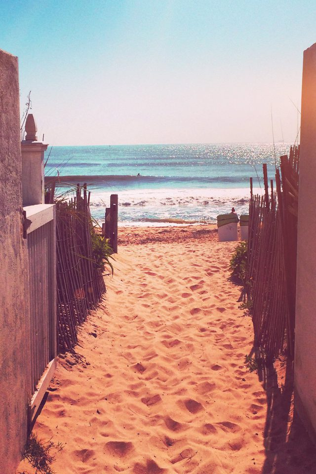Way To Sea Sand Ocean Beach Nature Flare Android wallpaper
