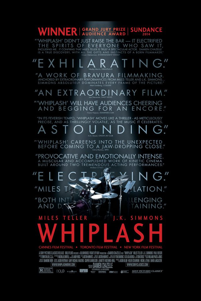 Whiplash Poster Film Music Drum Dark Android wallpaper